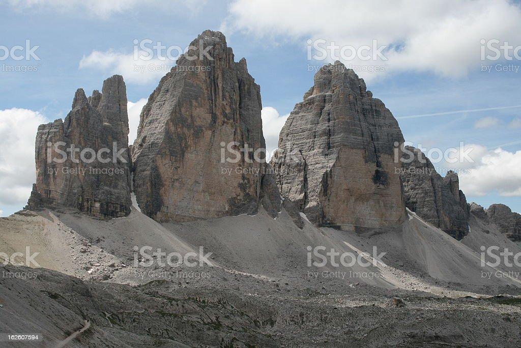 Drei Zinnen / Tre Cime, Dolomites, Italy royalty-free stock photo