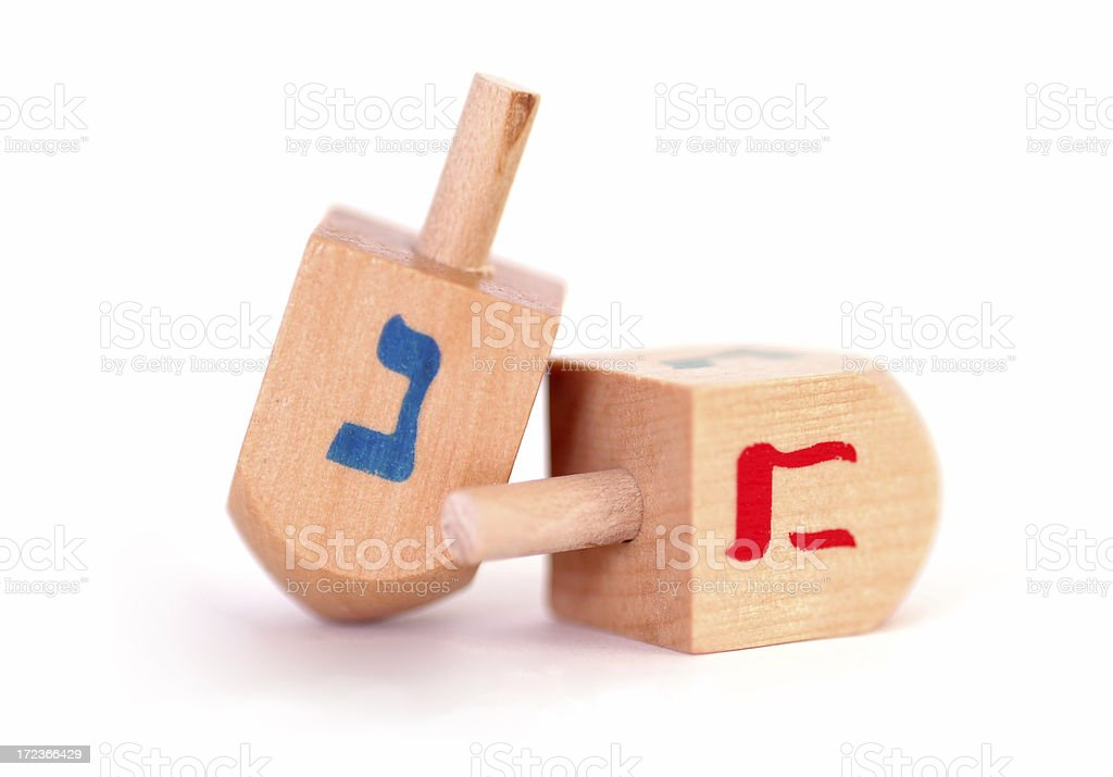 Dreidels in Macro royalty-free stock photo