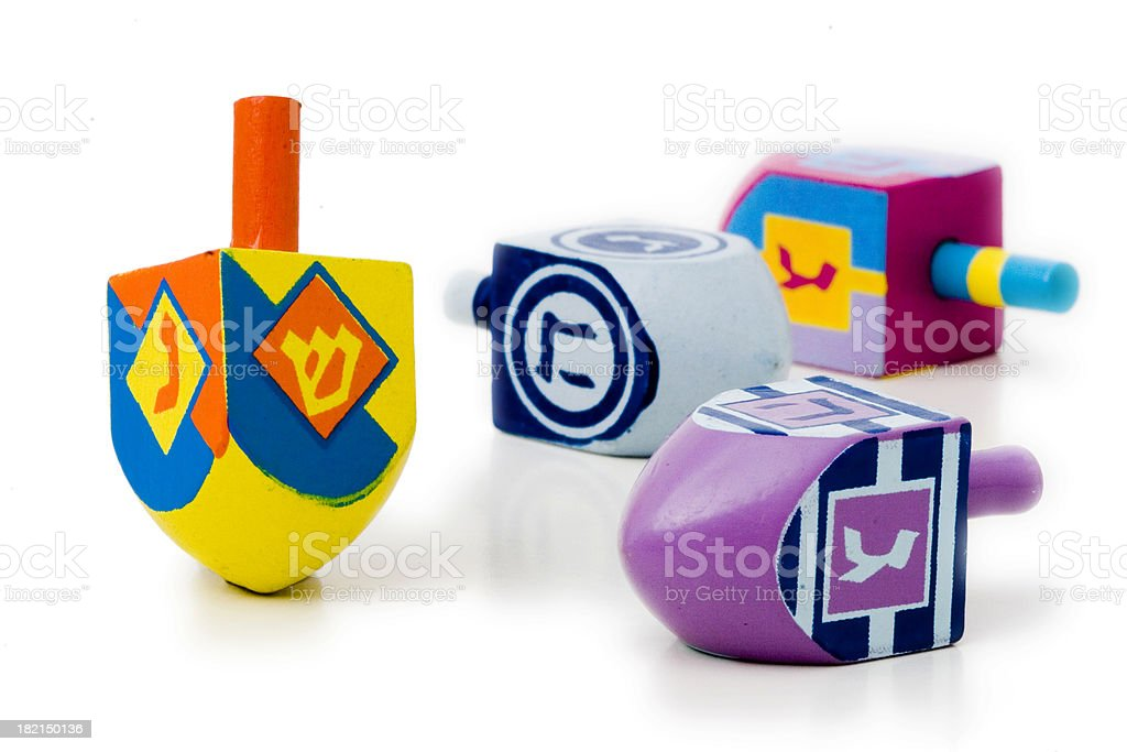 Dreidels royalty-free stock photo