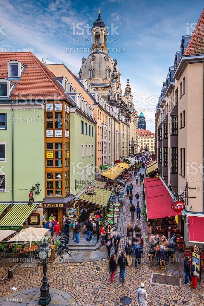 Dresden Alleyway stock photo