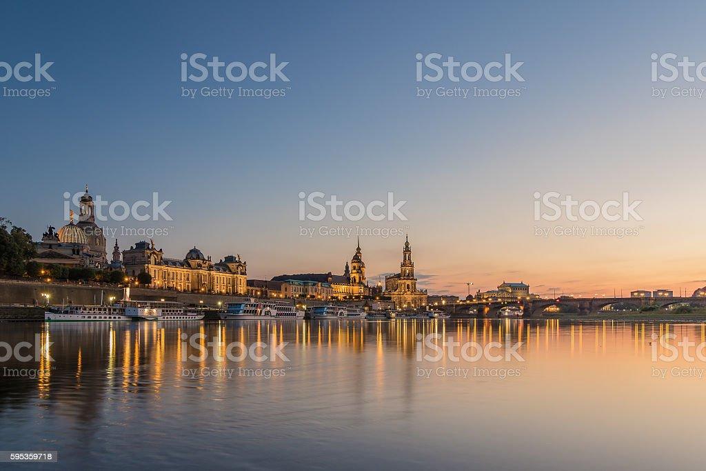 Dresden blur hour stock photo