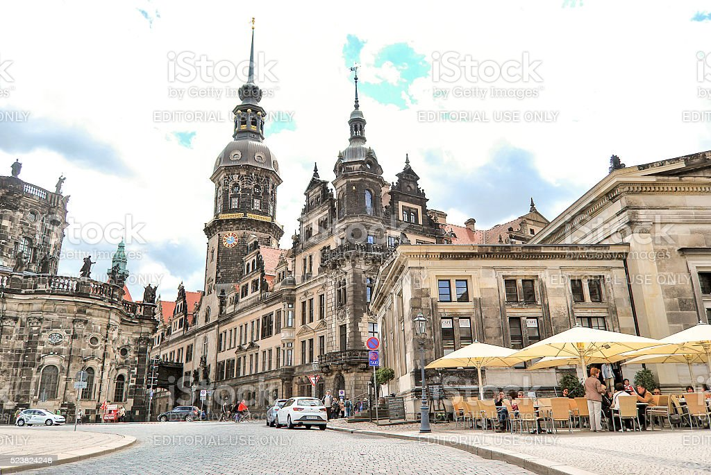 Dresden Castle at day. stock photo