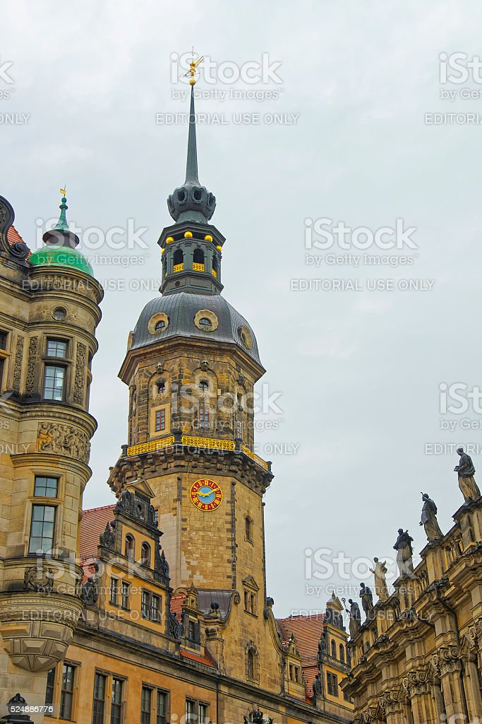 Dresden Castle in the city center of Dresden in Germany stock photo