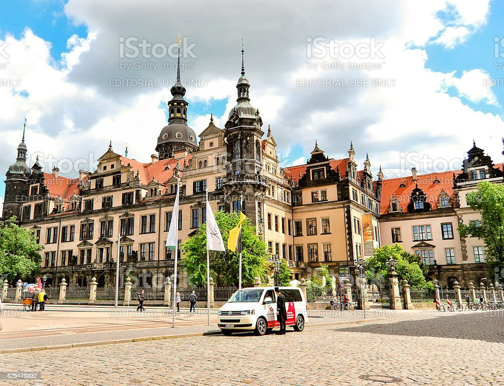 Dresden Castle on a sunny day. stock photo