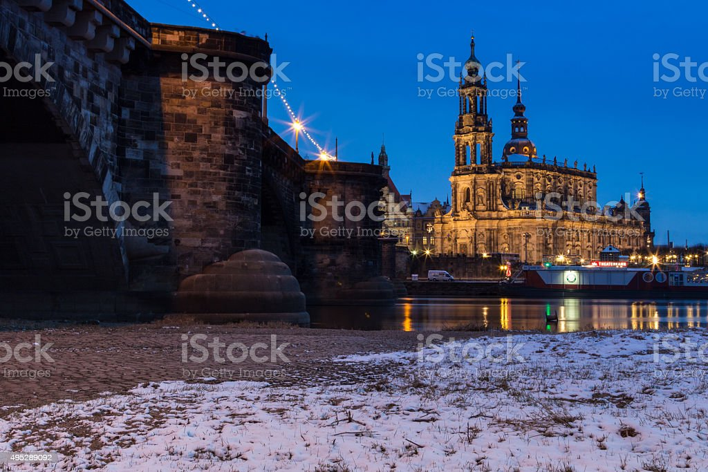 Dresden Cathedral stock photo