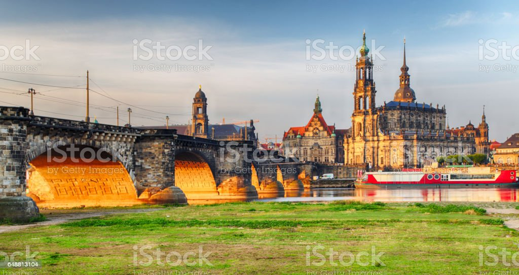 Dresden - Elbe, Germany stock photo