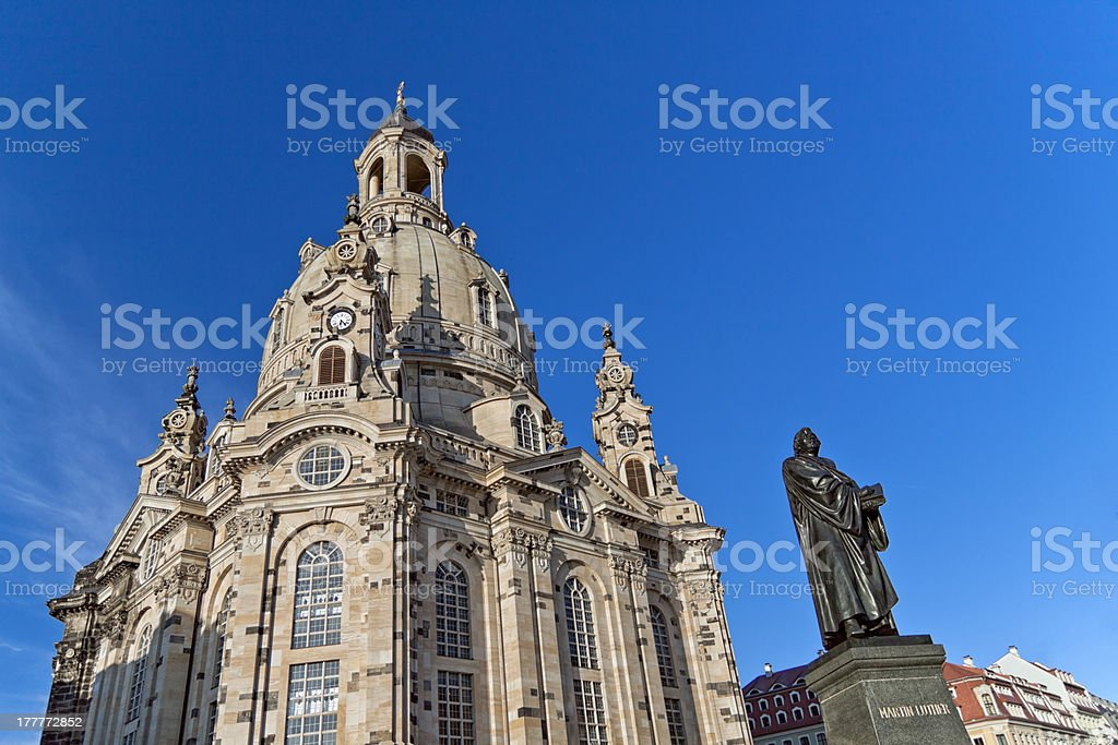 Dresden Frauenkirche, Church of our Lady royalty-free stock photo