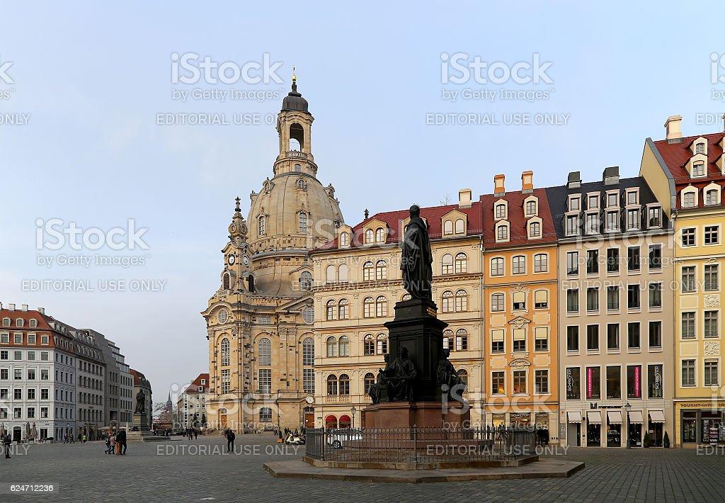 Dresden Frauenkirche in Dresden, Germany stock photo