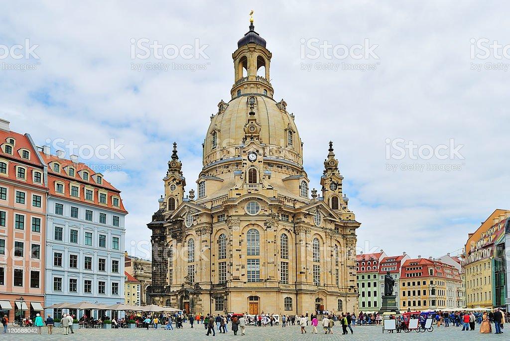 Dresden Frauenkirche stock photo