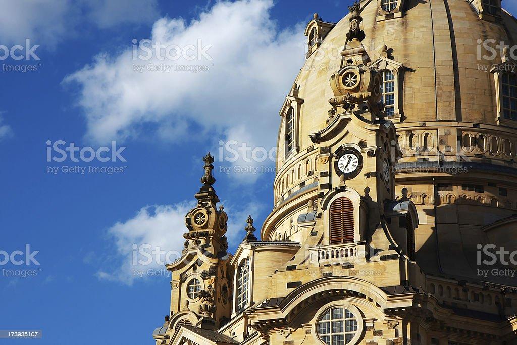 Dresden Frauenkirche royalty-free stock photo
