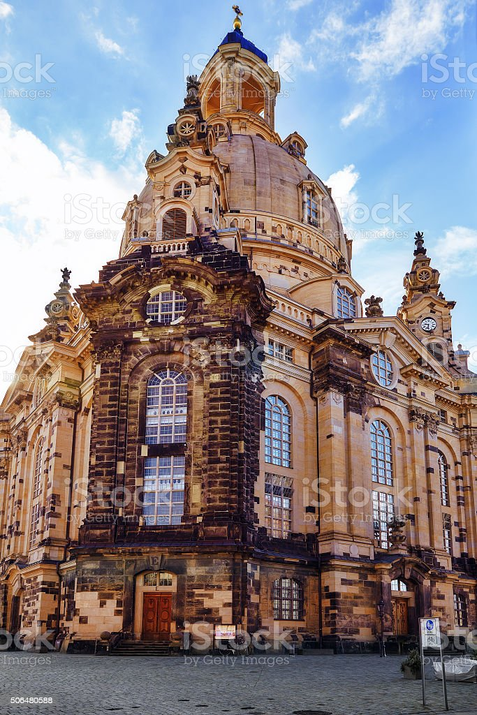 Dresden Frauenkirche (Church of Our Lady) stock photo