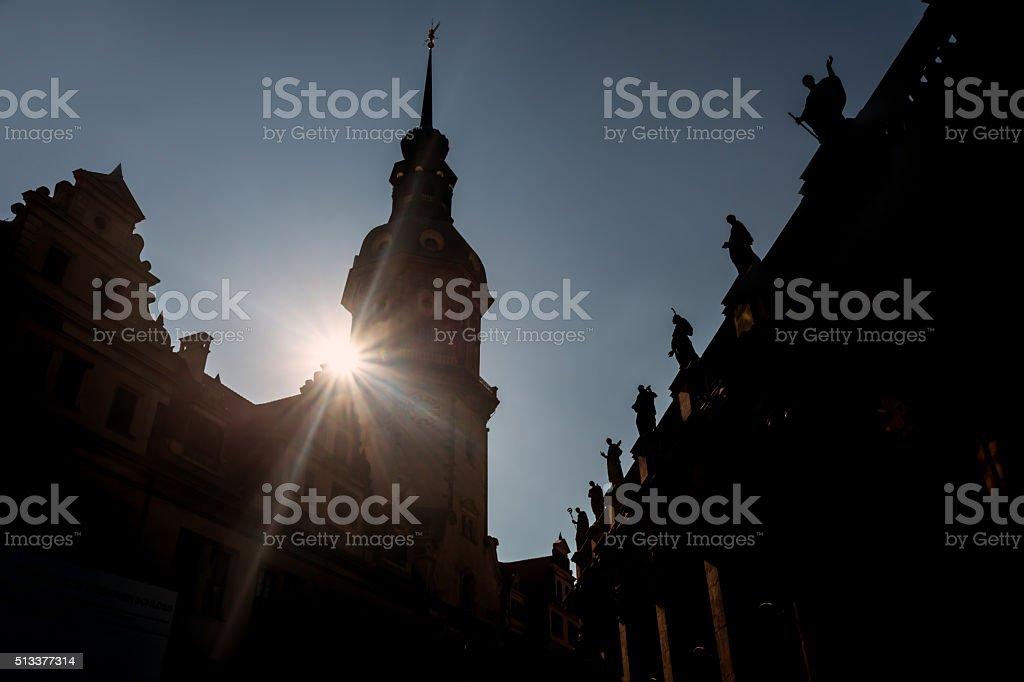 Dresden Hofkirche, Germany stock photo