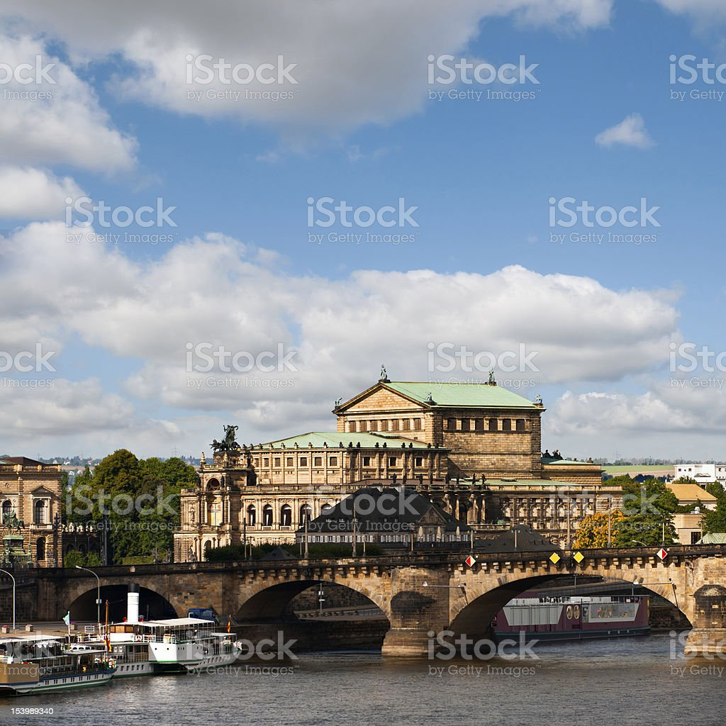 Dresden Opera House royalty-free stock photo