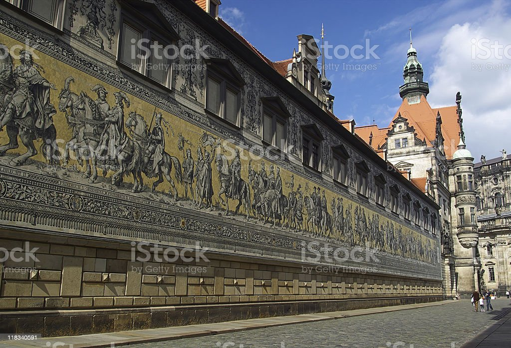 Dresden Procession of Princes stock photo