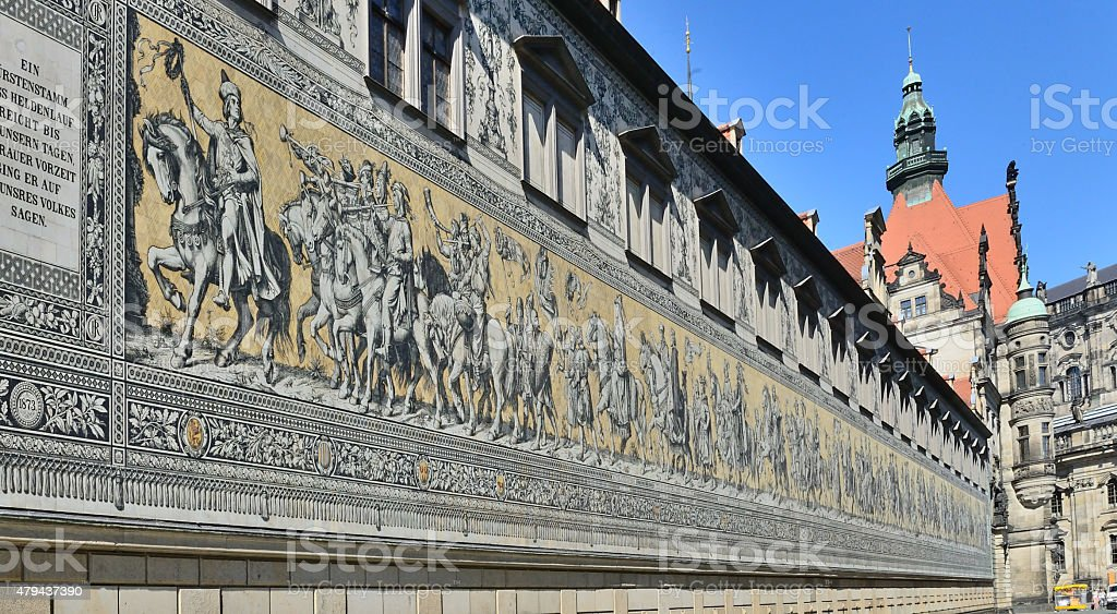 Dresden, Procession of Princes stock photo