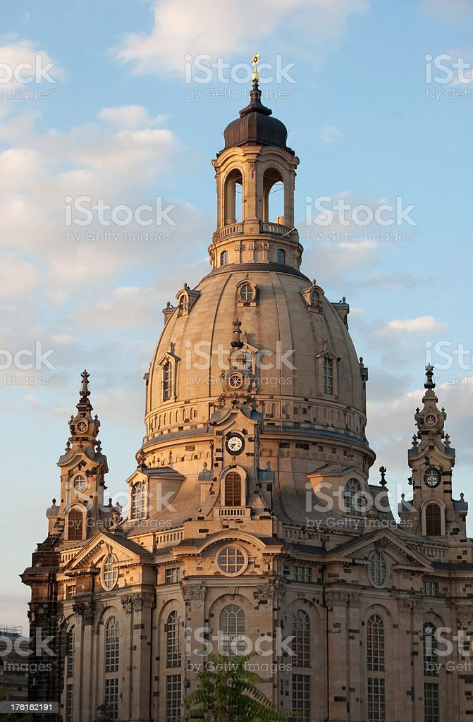 """Dresden """"Frauenkirche"""" Church of our Lady royalty-free stock photo"""