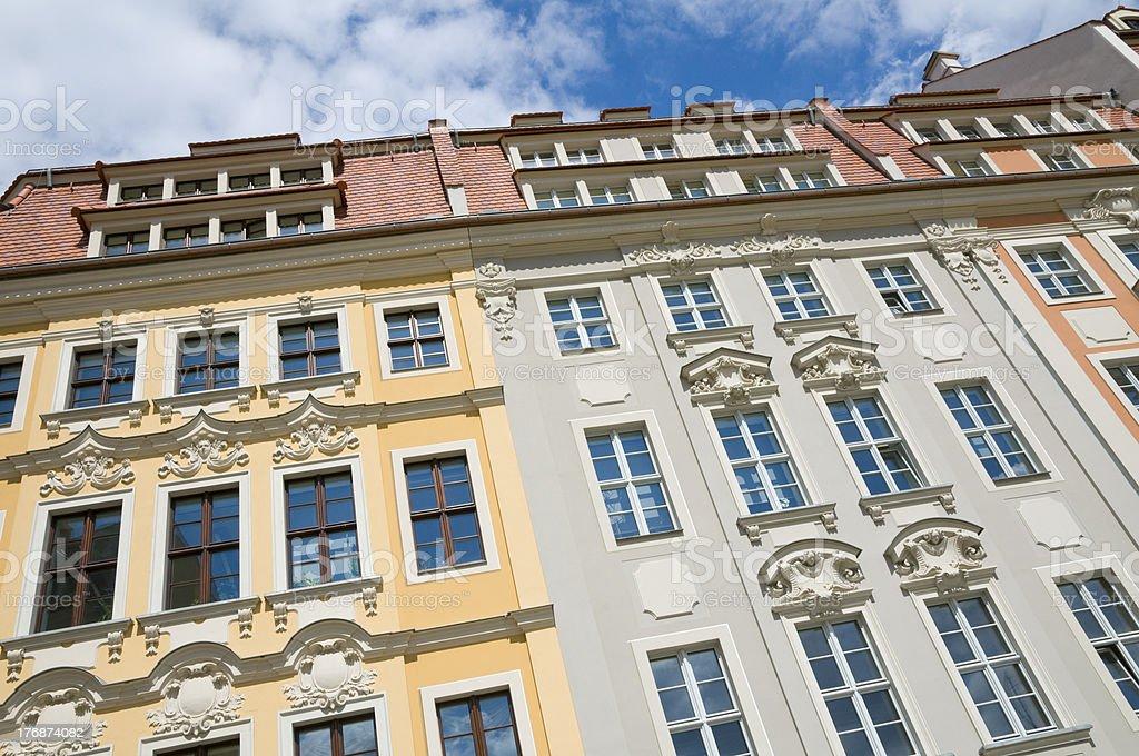 Dresden Rampische Strasse stock photo