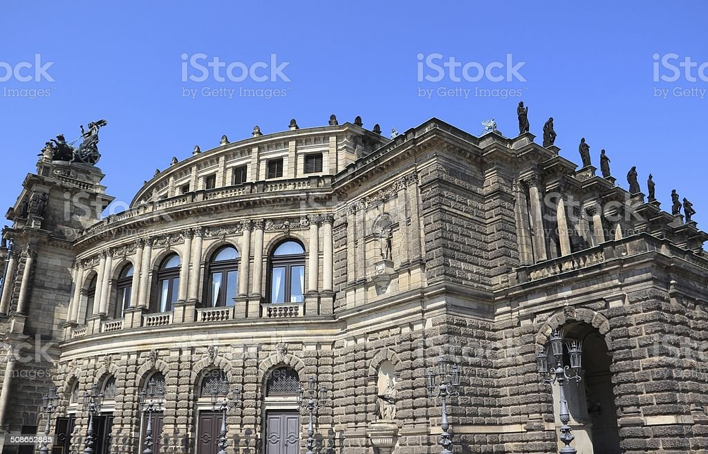 Dresden Semperoper stock photo