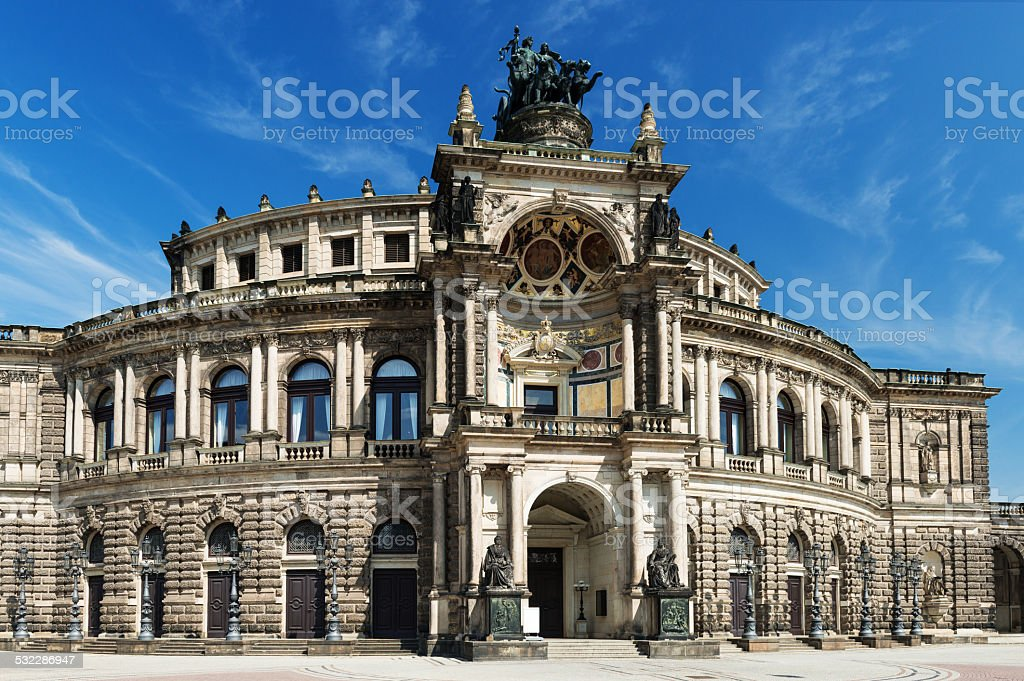 Dresden - Semperoper stock photo