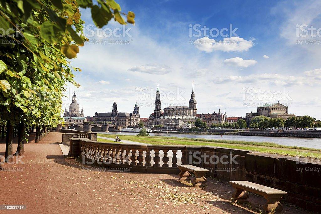 Dresden Skyline, Germany stock photo