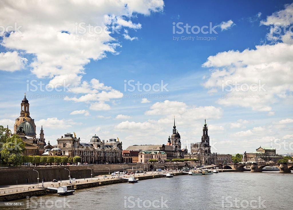 Dresden Skyline royalty-free stock photo