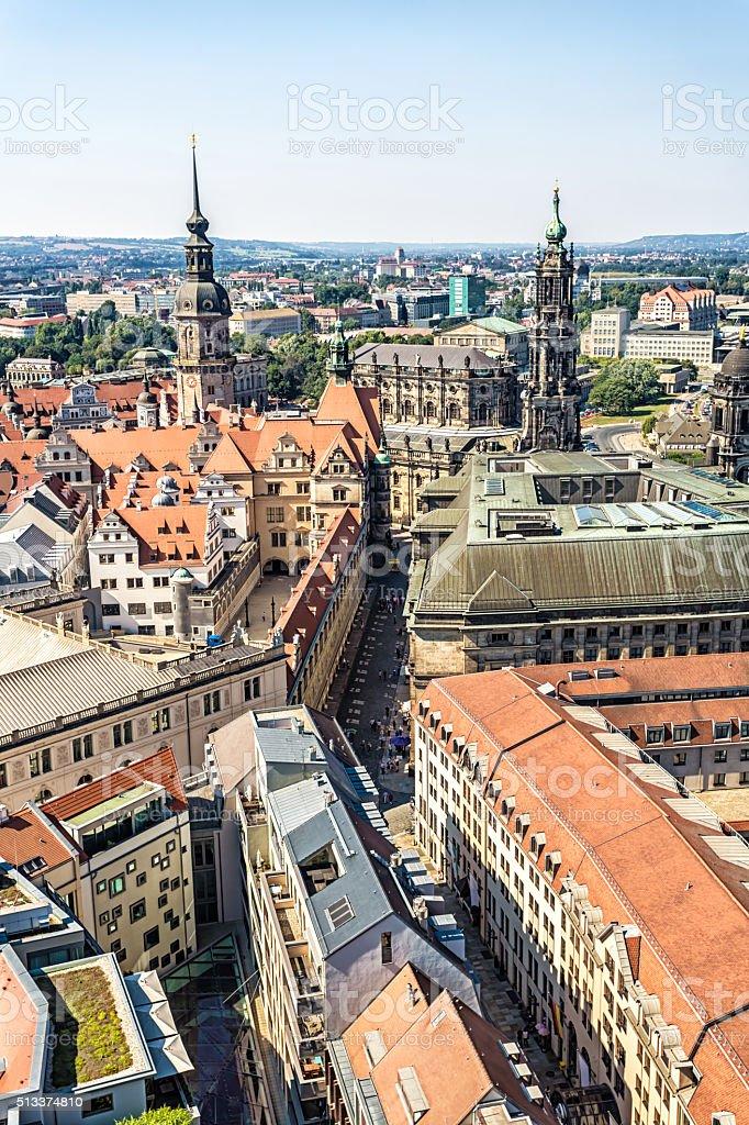 Dresden Skyline stock photo