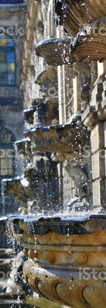 Dresden, Zwinger, Fountain stock photo