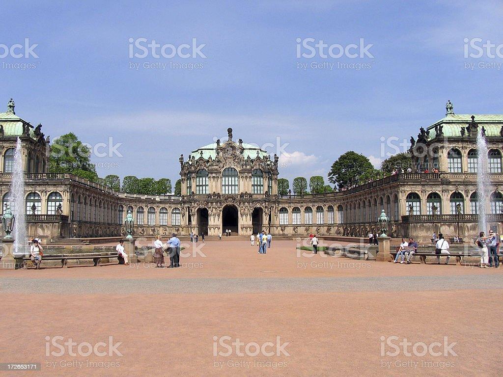 Dresdner Zwinger royalty-free stock photo