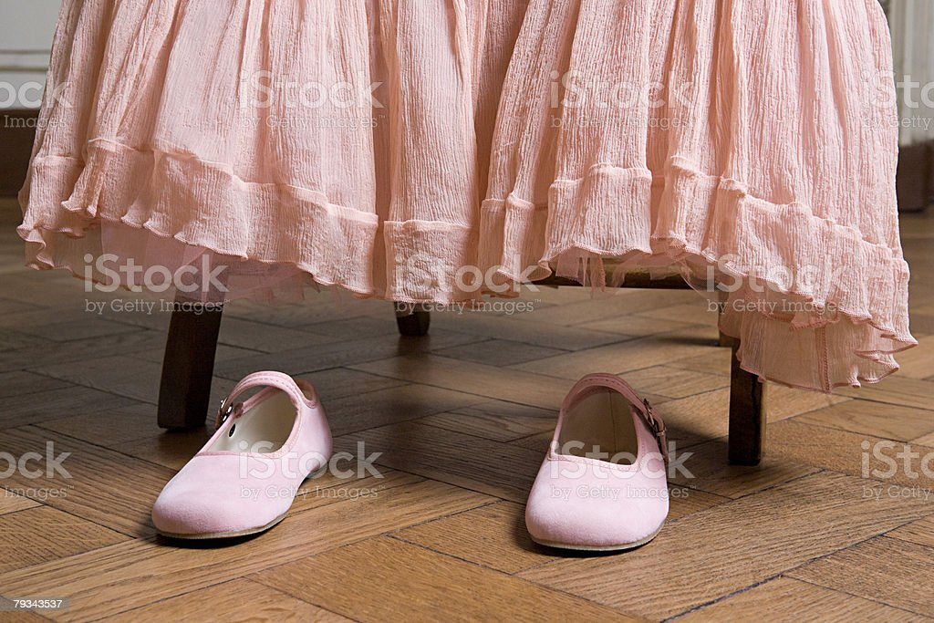 Dress and shoes stock photo