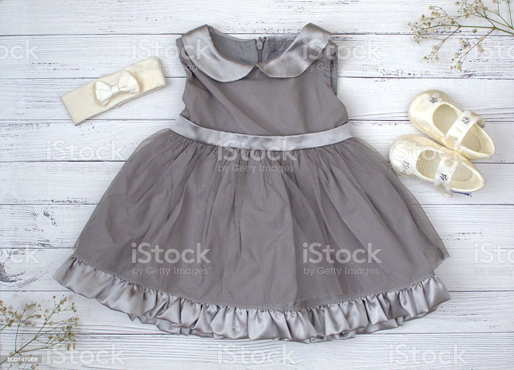 Dress for babies stock photo