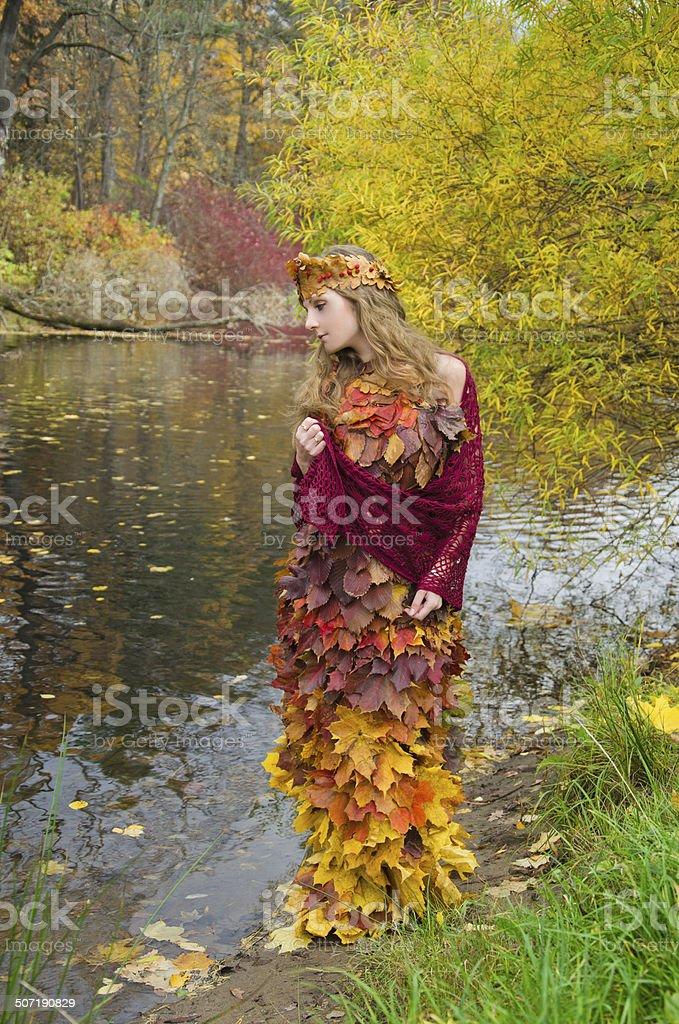 Vestido de Folhas foto de stock royalty-free