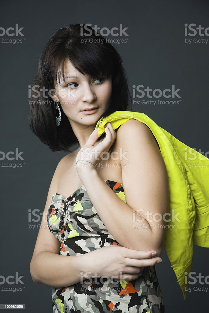 Dress in camouflage royalty-free stock photo