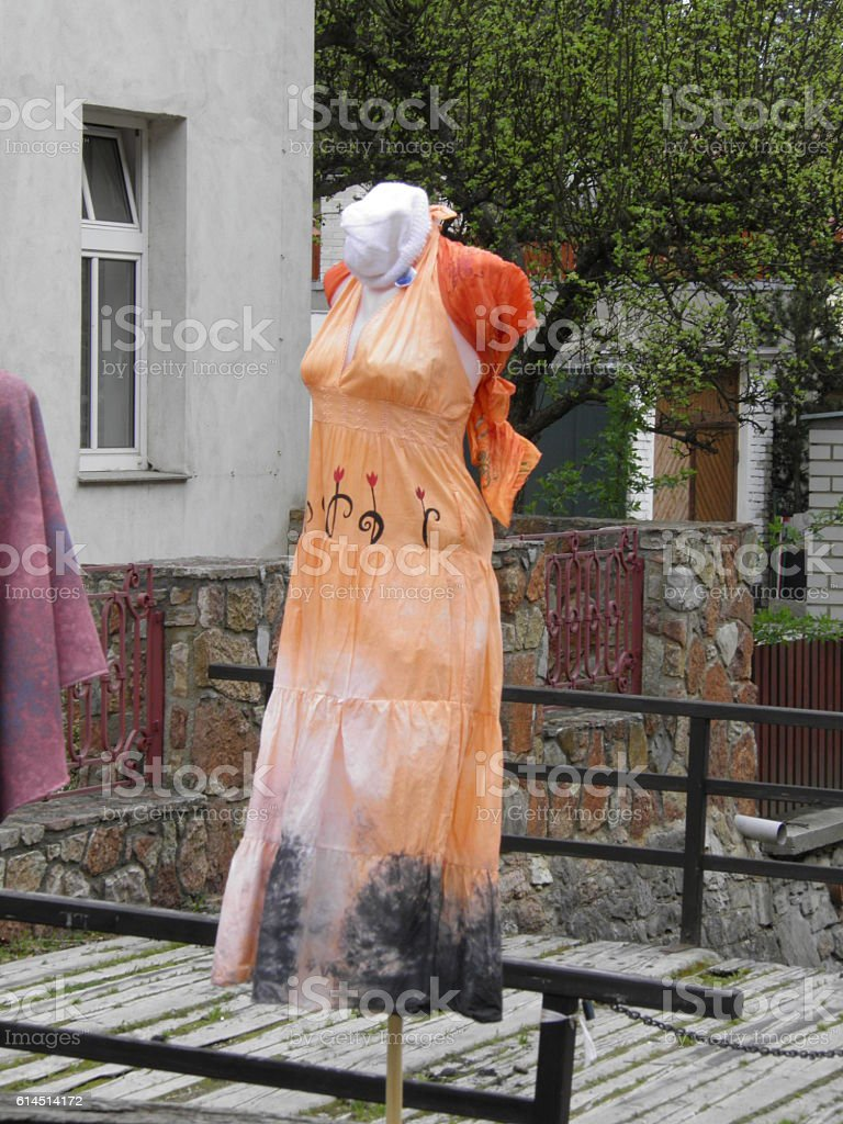 Dress on a woman mannequin stock photo