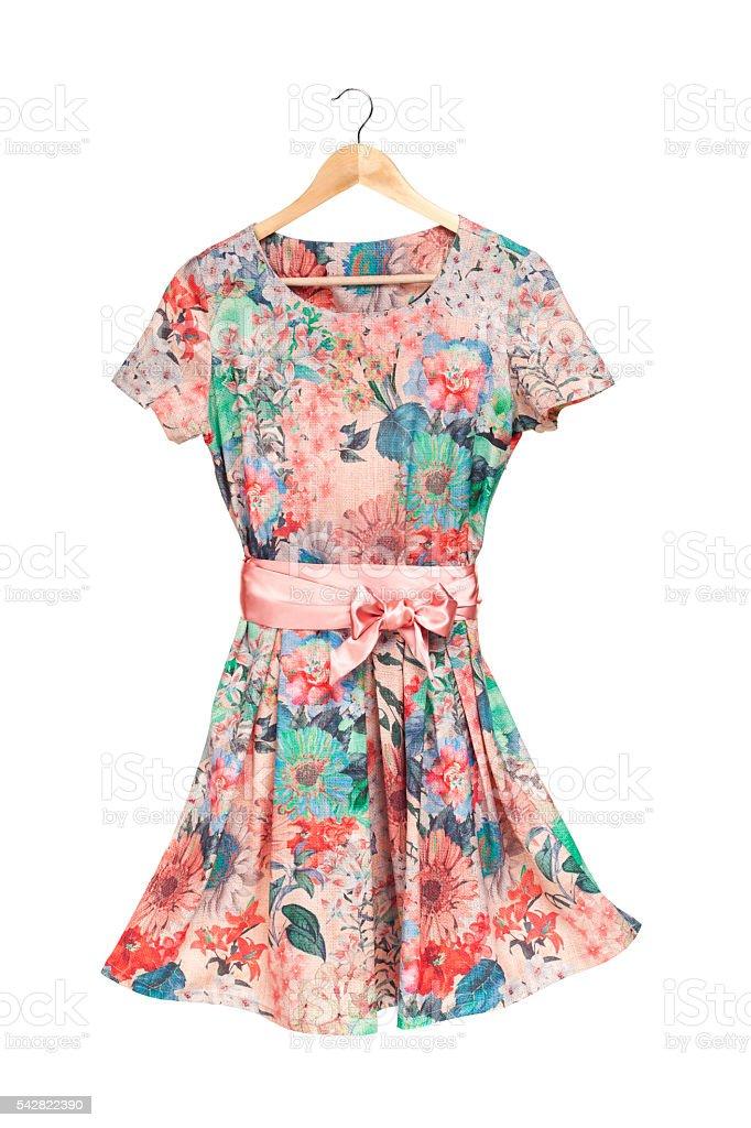 dress on hanger stock photo