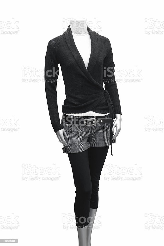 dress on mannequin royalty-free stock photo