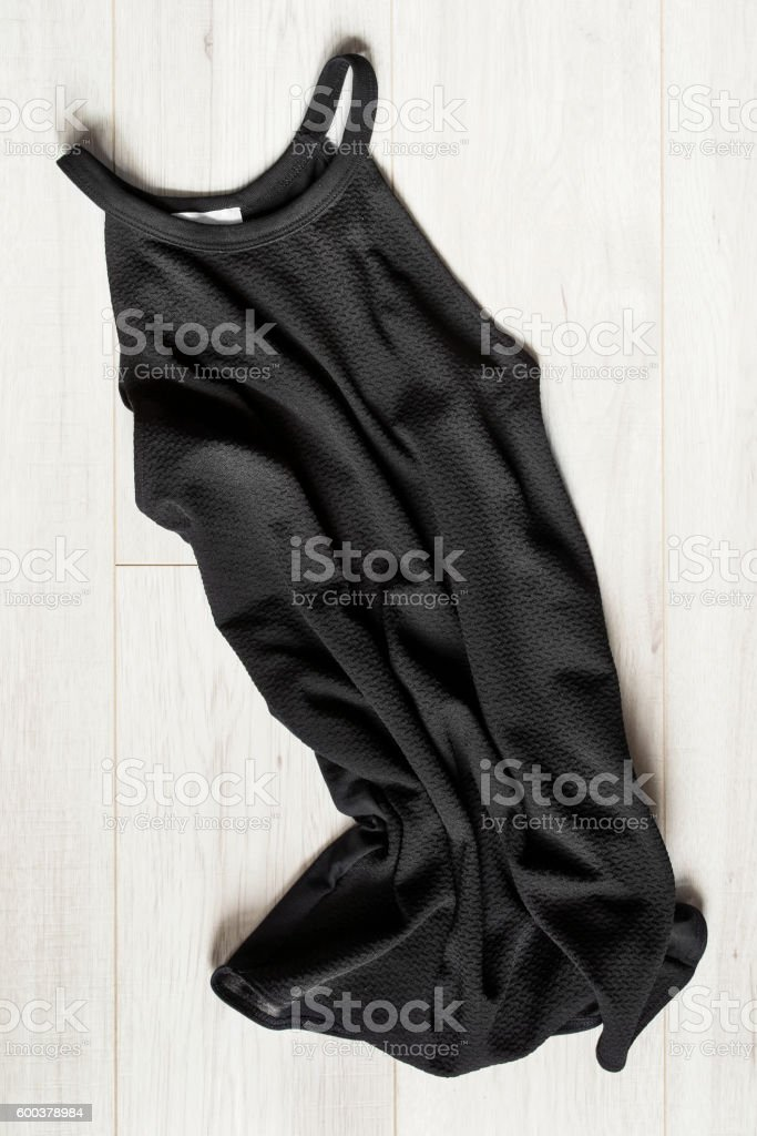 Dress on wooden background stock photo