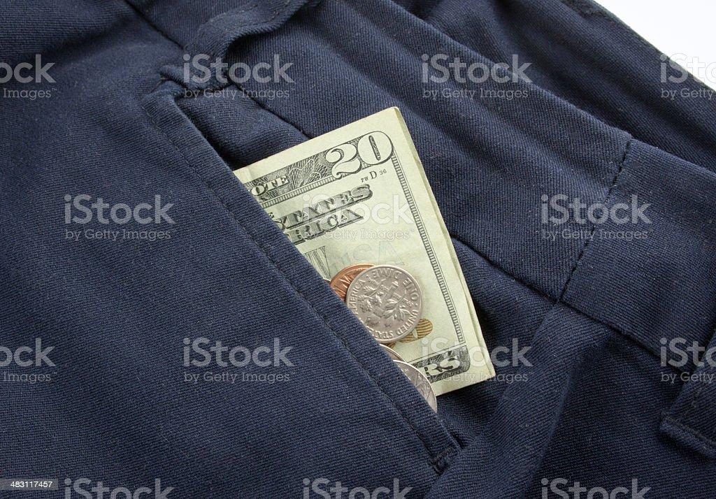 Dress Pants Cash royalty-free stock photo
