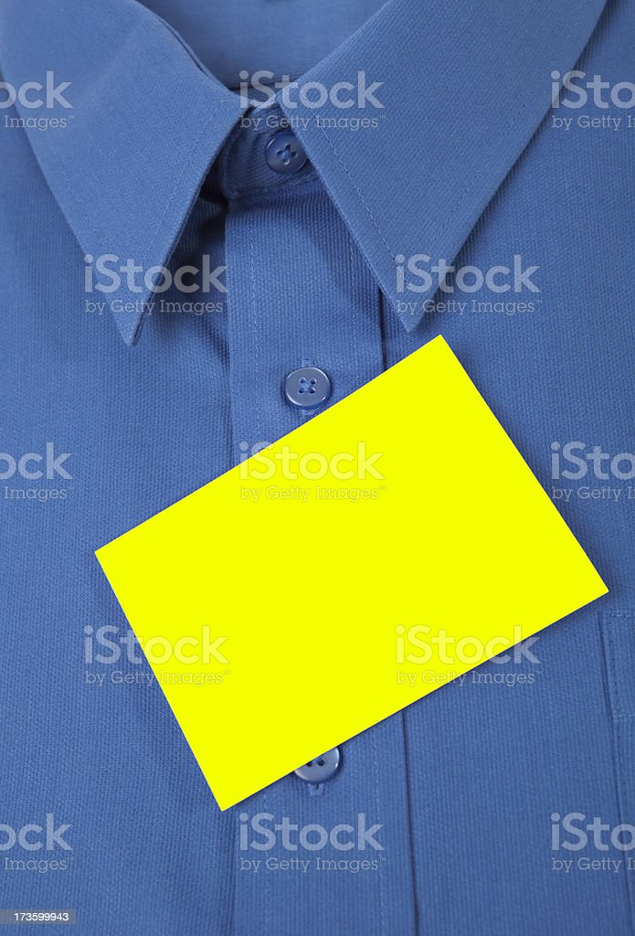 Dress Shirt With Reminder Note royalty-free stock photo
