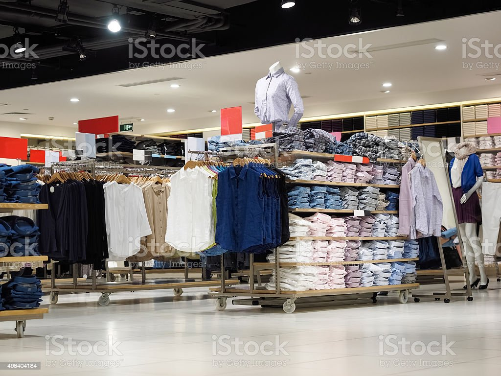 dress shop stock photo