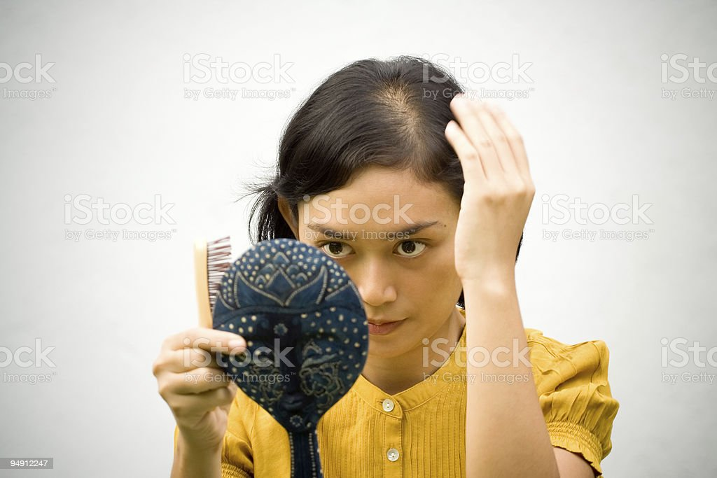 dress up young woman stock photo