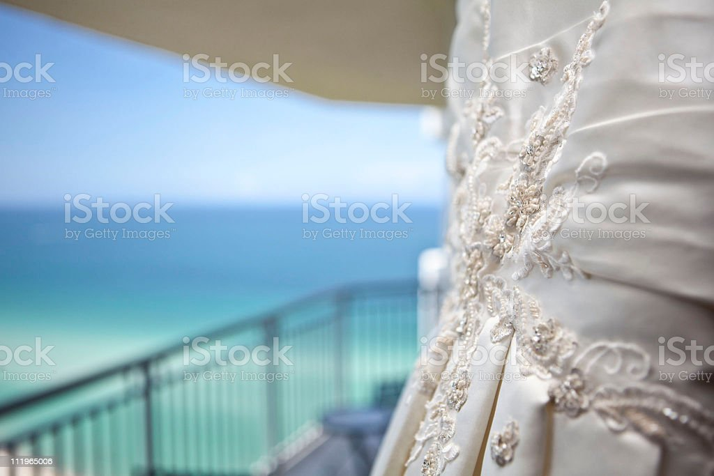 Dress with Ocean Background royalty-free stock photo