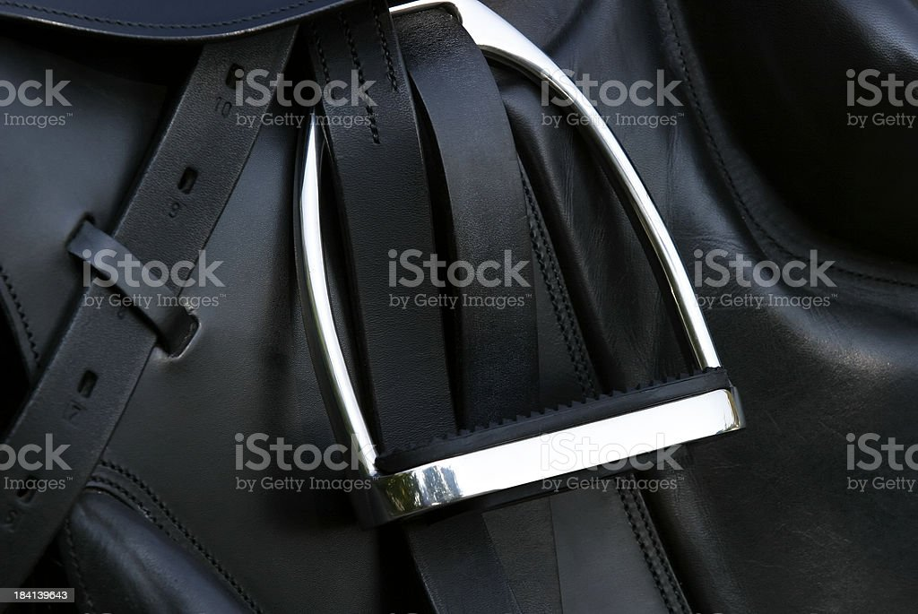 Dressage saddle stock photo