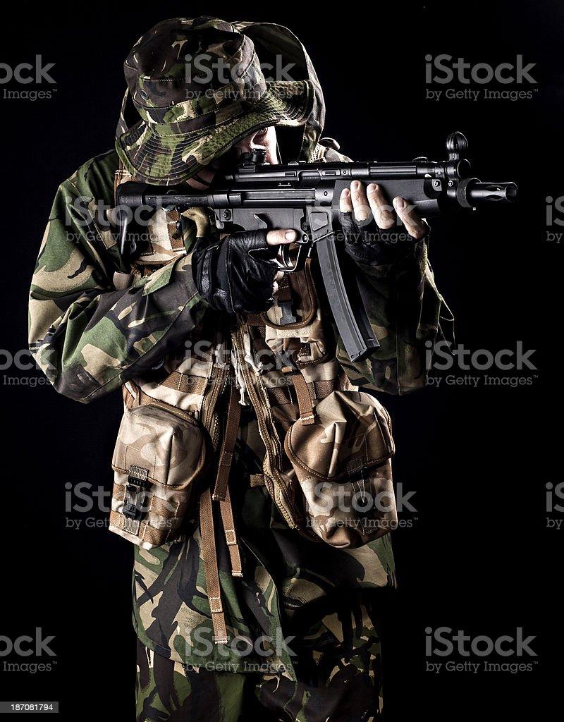 CQB dressed commando royalty-free stock photo