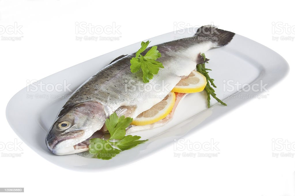 Dressed Rainbow Trout royalty-free stock photo