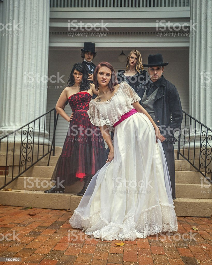 Dressed up royalty-free stock photo