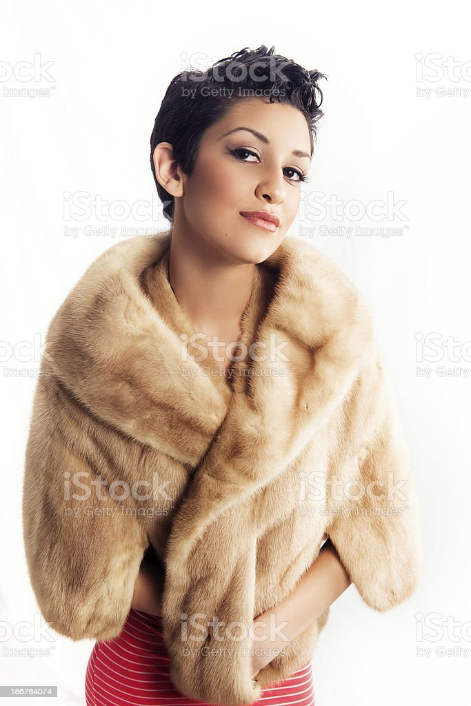 Dressed Up Young Hispanic Woman royalty-free stock photo