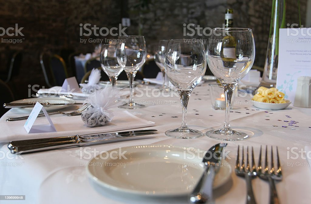 Dressed Wedding Table royalty-free stock photo