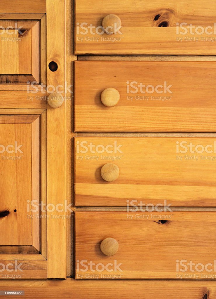 Dresser Furniture Cabinet Drawer Decor royalty-free stock photo