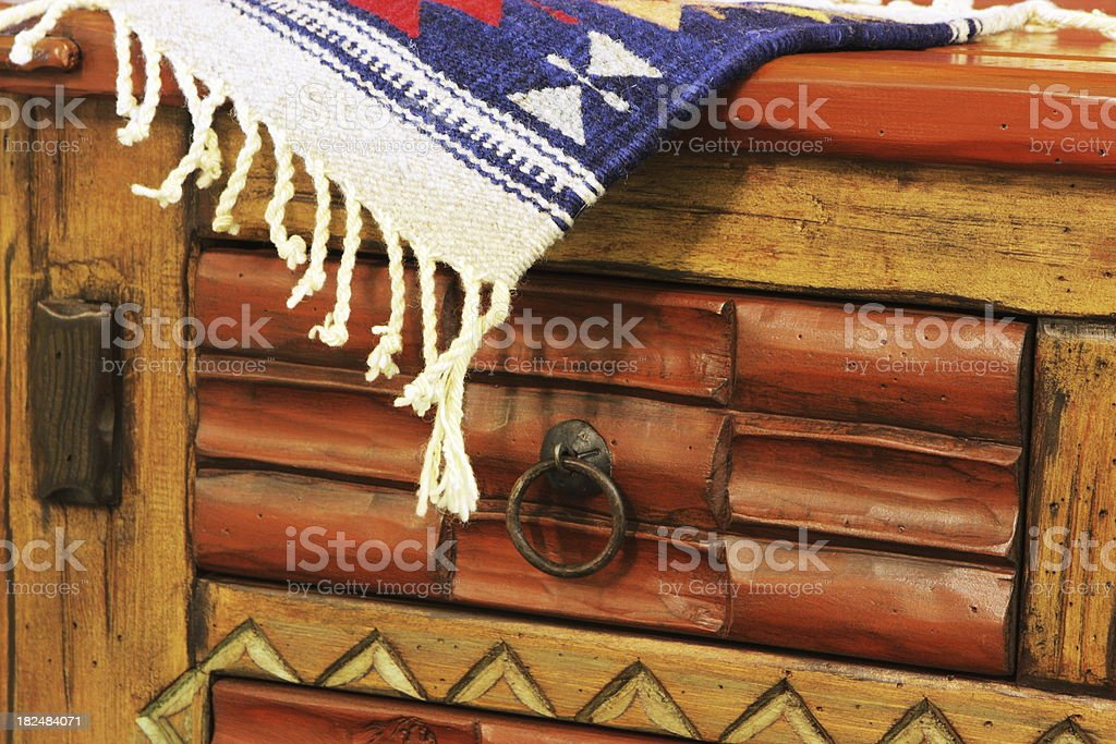 Dresser Furniture Decor Placemat Rug royalty-free stock photo