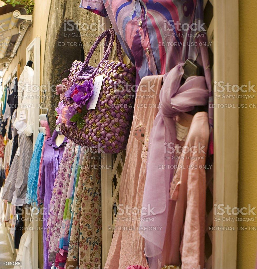 Dresses for Sale in Positano, Amalfi Coast, Italy royalty-free stock photo